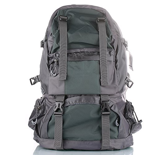 50 litri zaino con , anche una borsa da viaggio / zaini, ideale per gli sport all'aperto facendo un'escursione scalata in bicicletta equitazione e così via-nuovo blu grigi