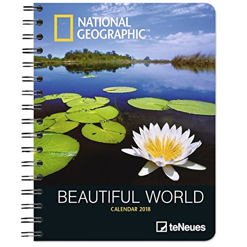 2018 National Geographic Beautiful World Deluxe Diary - teNeues - 16.5 x 21.6 cm