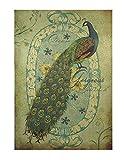 paon affiche de papier kraft rétro nostalgique peinture décorative A