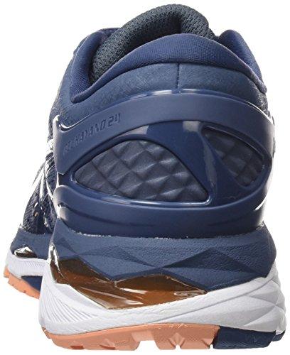 Asics Ladies Gel-kayano 24 Scarpe Da Corsa Blu (blu Fumo / Blu Scuro / Canteloupe 5649)