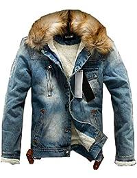 itGiacca Pelliccia UomoAbbigliamento Amazon Jeans Con TK1JlFc