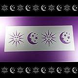Schablone Bordüre Sonne Mond Sterne Himmel B2B28