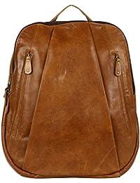 Enew Vintage Leather Laptop Rucksack With Large Pockets, Leather Backpack Bag Genuine Leather Retro Rucksack College...