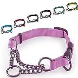 CarlCurt - Training Line: Retriever-Hundehalsband Aus Strapazierfähigem Nylon, Verstellbar, 28-38cm, Rosa