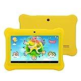 iRULU BabyPad 1 Tablet da bambini, Flash da 8 GB Nand, fotocamera doppia, Wi-Fi, 1 GB di RAM, Android 4.4 KitKat, 7 pollici con schermo multi-touch di risoluzione 1024x600, ricarica di Google Play (Giallo) immagine