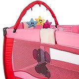TecTake Kinder Reisebett pink - 3