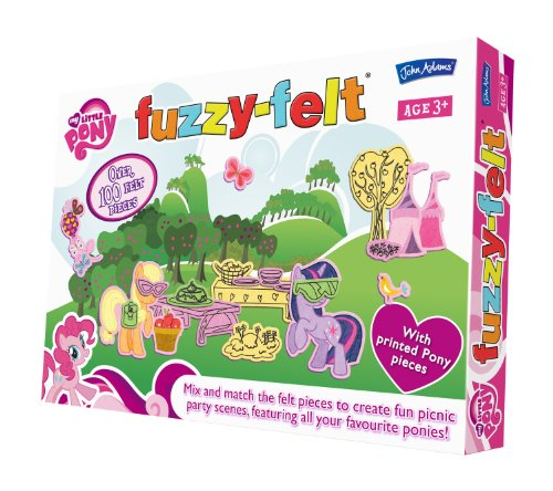 John Adams 9741 - Fuzzy Felt - My Little Pony, 100 teile Puzzle -