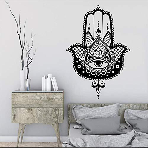 Hand Wandtattoo Vinyl Aufkleber Fischauge Indischer Buddha Yoga Fatima Lotus Wohnaccessoires Haus Schlafzimmer Dekoration 57 * 39 cm