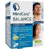 MindCare BALANCE supplément de soulagement du stress - huile de poisson sauvage oméga-3, magnésium, L-théanine & multivitamines pour le système nerveux ; formule en deux gélules qui vous aide à rester détendu, offre le soulagement du stress et de l'anxiété, 60 capsules