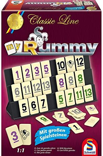 Schmidt Spiele 49282 - Classic Line MyRummy, Legespiel mit großen Spielsteinen