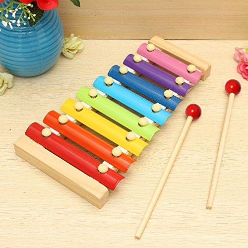 JJOnlineStore - FLASH SALES - Musikinstrument, Xylophone mit 8 Tönen, aus Holz, für Kleinkinder, Entwicklungsspielzeug