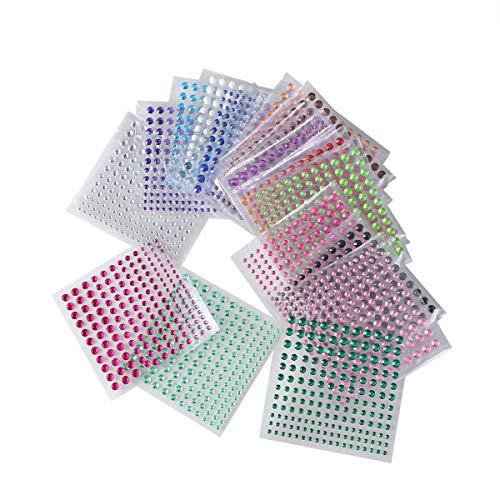 Bling Strass Sticker Blatt Edelstein Diamant selbstklebend für Scrapbooking Verzierungen und DIY Handwerk (Farbmischung) ()