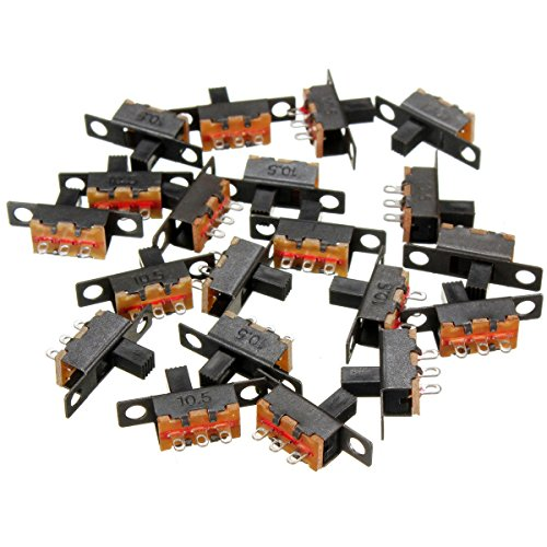 Price comparison product image Generic DYHP-A10-CODE-5276-CLASS-1-- Electronic Components Slide Switch ic Co 20 PCS lide Sw Black SPDT T ON- ON-Off Miniature Black --DYHP-UK10-160819-3262