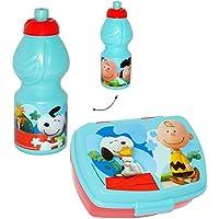 Preisvergleich für alles-meine.de GmbH 2 TLG. Set _ Lunchbox / Brotdose & Trinkflasche - Peanuts / Snoopy - Brotb..