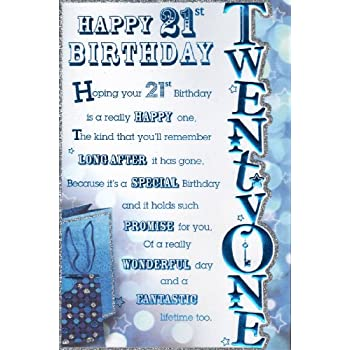 21st birthday birthday card happy 21st birthday male design 21st birthday birthday card happy 21st birthday male design bookmarktalkfo Gallery