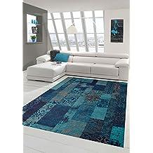 Amazon.fr : tapis salon turquoise