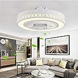 JINWELL Fan Plafoniera Creativa moderna Plafoniera LED Dimmerabile Ventilatore a soffitto con illuminazione e telecomando silenzioso vivaio camera da letto soggiorno illuminazione