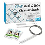 RespLabs CPAP Hose Cleaning Brush - The [8 in 1] System Guaranteed to Clean Every CPAP Tube Type: Standard 22mm, Slim 15mm, Heated Tubing, and More