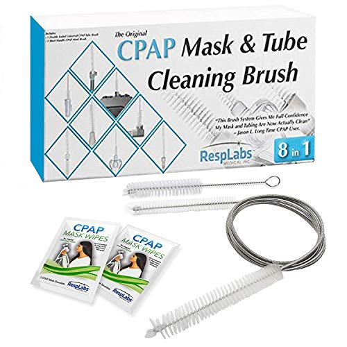 RespLabs CPAP Hose Cleaning Brush - The [8 in 1] System for Every CPAP Tube Type: Standard, Slimline And Heated Tubing (Cpap-maske Filter)