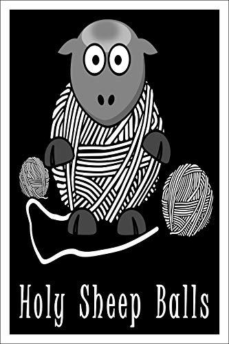 Spitzy's Holy Sheep Balls Poster 30,5 x 45,7 cm, lustiges Strick- und Häkelgeschenk für Männer und Frauen