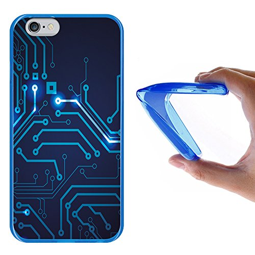 iPhone 6 6S Hülle, WoowCase Handyhülle Silikon für [ iPhone 6 6S ] Coloriertes Graffiti Handytasche Handy Cover Case Schutzhülle Flexible TPU - Transparent Housse Gel iPhone 6 6S Blau D0042