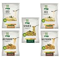 NutraHi Gluten Free Spaghetti Combo - 2 x Rice, 2 x Multigrain and 1 x Spinach - 84gm Each
