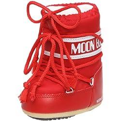 Moon Boot, Moon Boot Mini Nylon, Stivali, Unisex - Bambino, (Rosso 003), 19/22