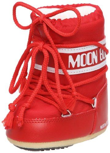 Moon Boot Tecnica MINI NYLON ROSSO, Baby Mädchen Lauflernschuhe, Rot (Red 003), 19-22 EU (UK 3/5)