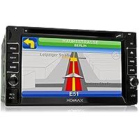 XOMAX XM-2DTSBN6214 Autoradio con navigatore GPS + Funzione vivavoce Bluetooth + Display touch screen da 6,2