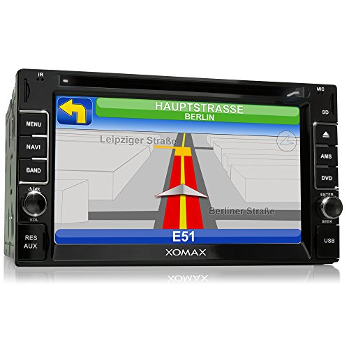 XOMAX 2DTSBN6214 radio de coche / Moniceiver reproductor multimedia / naviceiver con GPS + NAVIGATION software incluye mapas de Europa (38 países) + Bluetooth manos libres + 6,2