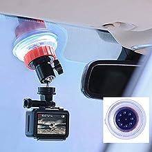Saugnapf für Gopro Mount Auto Windschutzscheibe Fenster Fahrzeug Boot Kamera Halter w 360 Grad Rotation Kugelkopf für GoPro Hero 5 6 7 DJI OSMO Action Kamera Zubehör