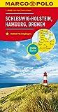 MARCO POLO Karte Deutschland Blatt 1 Schleswig-Holstein 1:200 000: Hamburg, Bremen (MARCO POLO Karten 1:200.000) -