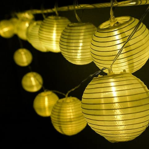 HQOON Strip String Light, Fairy LED Rope Lights, Cool Nylon Lanterns Mini Globe Lighting, Decoration for Christmas/ Patio/ Indoor/ Outdoor/ Garden party, Bedroom Decor, Battery Powered, Warm White