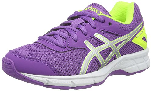Asics GEL-Galaxy 9 GS, Zapatillas de Running Niñas, Varios Colores (Orchid/Silver/Safety Yellow), 35 EU