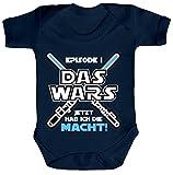 ShirtStreet Strampler mit Motiv Bio Baumwoll Baby Body kurzarm Junge - Das Wars jetzt hab ich die Macht!, Größe: 6-12 Monate,Nautical Navy