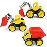 B Blesiya Mini Bagger / Bulldozer / Baufahrzeug Spielzeug Spielzeugauto für Innen-Außenraum Spiel