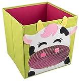 Caja plegable para guardar cosas y organizar armarios - Decoración infantil - Vaca sonriendo
