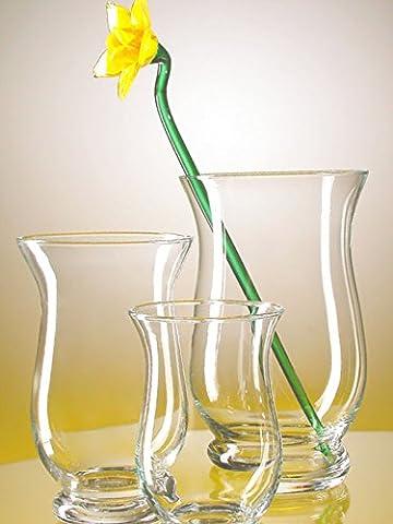Vase große klare Glasvase klassische übergroße XXL Bodenvase mit großer Öffnung 22 cm, Höhe 55 cm, Mundgeblasen Oberstdorfer