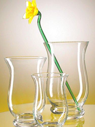 Gigante Jarron de suelo de cristal transparente, gran florero de vidrio claro...