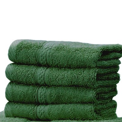 Linens Limited 100% Turkish Cotton Face Cloth, Forest Green