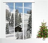 gardinen-for-life Flächenvorhang Winterwelt 3er Serie - Schiebevorhänge, jew. Gr.60x260 cm