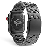 Moko Apple Watch Armband 42mm Series 3 / 2 / 1 , [fünf Perle] Edelstahl Wrist Band Uhrband Uhrenarmband Erstatzband für Apple Watch 42mm 2017, Space Grau