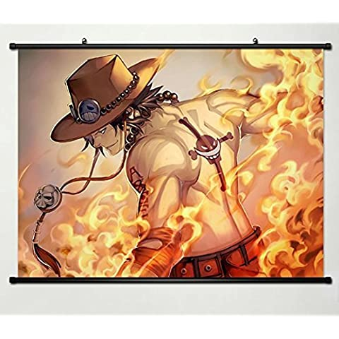 Wall Scroll Poster Fabric Painting For Anime One Piece Portgas D Ace 358 by One Piece