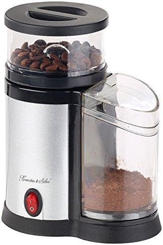 Rosenstein & Söhne Kaffeemuehlen: Elektrische Kaffeemühle, Edelstahl-Scheibenmahlwerk und -Blende, 150 W (Coffee Grinders)