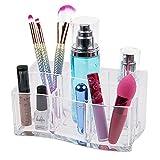 ISWEES Organizer per Cosmetici – 6 Scomparti Organizzatore Trucco in Acrilico Trasparente Contenitori Trucchi Porta Pennelli Box (6 Scomparti)