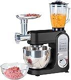 Rosenstein & Söhne Küchenmaschinen Sets: All-in-One-Küchenmaschine mit Fleischwolf und Mixaufsatz, 1.000 Watt (Rührgerät)