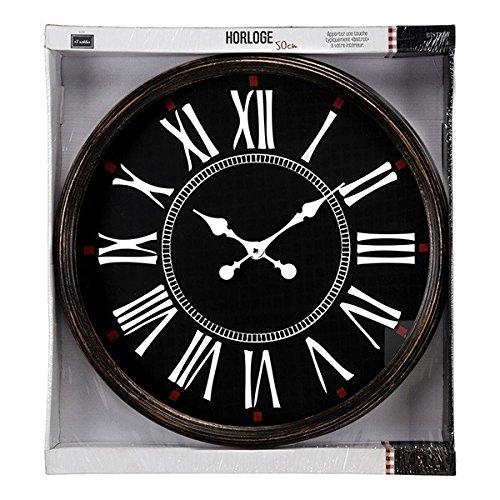 Reloj 50cm Bistrot, Negro