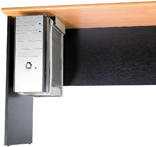 General Office Computerhalterung: Universal-Schienen-Halterung zur PC-Untertisch-Montage (PC Halterung Schreibtisch)