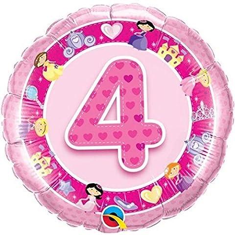 Ballon 4 ans princesses rose à l