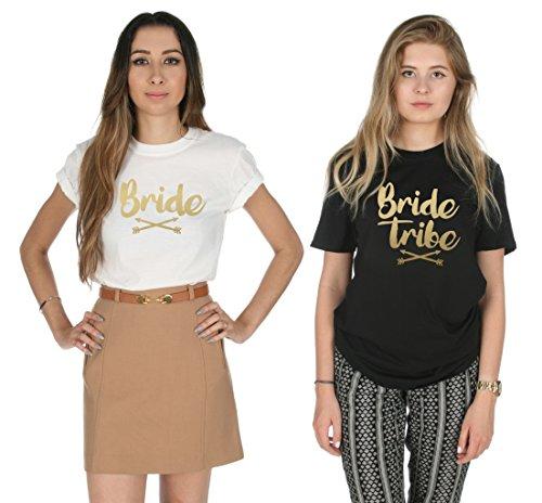 Sanfran Clothing Damen T-Shirt Black (Bride Tribe)